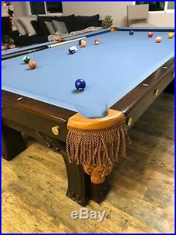 Antique Vintage BRUNSWICK PFISTER 9 Billiards pool Table