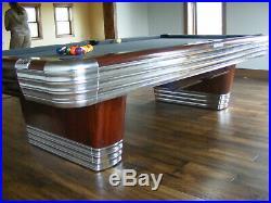 Antique/Vintage Brunswick Billiards Mid Century Modern 9' Centennial Pool Table