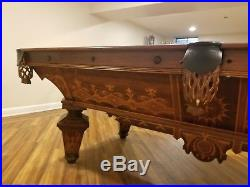 Antique brunswick billiards pool table. 1870-1880