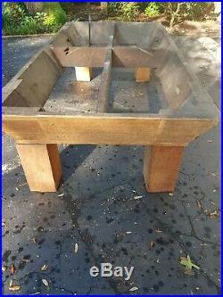 Antique brunswick billiards pool table 1920
