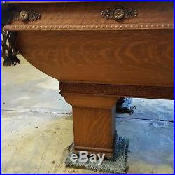 Antique brunswick billiards pool table local pickup only