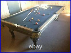 Antique classic vintage Murrey pool table 3 piece Italian Slate billiard 9ftx5ft