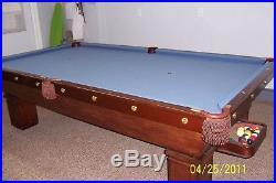 Antique pool table 1912 Brunswick Balke Collender Mikado