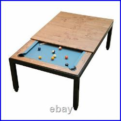 Aramith Fusion Billiards Pool Table with Vintage Top-Black Powder Coated