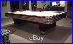 Art Deco Brunswick 1945 Centennial Pool Table, 4.5' X 9
