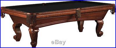 Augusta 8 Foot Pool Table Old World Mahogany Lifetime Warranty