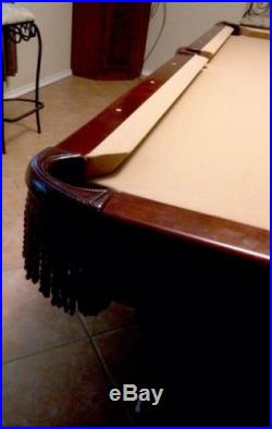 Authentic 8' Brunswick Billiards Table & Set
