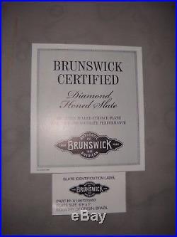 Authentic Brunswick Bensinger Mahogany 8x4 Pool Billiard Table Plays Amazing