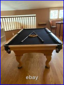 Authentic OLHAUSEN 8ft. Pool Table Bundle