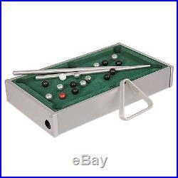 Aww-Cool Toys 8.25 Mini Aluminum Tabletop Pool Billiards Classic Portable Game