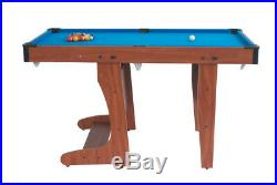BCE Riley 6x3 PT20-D 6 Folding Pool Snooker Table + balls + cues