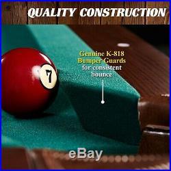 BILLIARD TABLE DARTBOARD COMBO SET Indoor Game Set Pool Cue Rack Storage 90 Inch