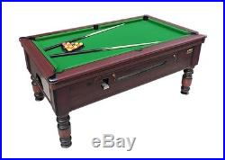 BRAND NEW 7ft X4ft ROSETTA TRADITIONAL POOL TABLE SLATE BED COIN OP MATCH SIZE