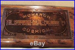BRUNSWICK BALKE COLLENDER CO POOL TABLE c1910 EXCELLENT CONDITION