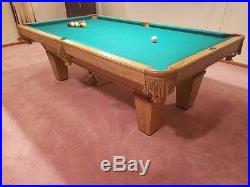 a07eb28902b BRUNSWICK DAKOTA SLATE POOL TABLE 8 ft. Simonis 860 Cloth. 1 slate