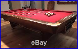 BRUNSWICK Gold Crown Championship pool table CELEBRITY OWNED