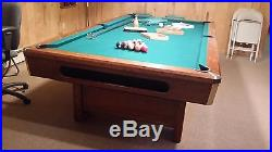 BRUNSWICK LANCER 4' X 8' POOL TABLE (MANY EXTRAS) EXCELLENT CONDITION