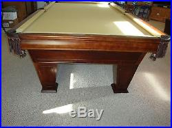 BRUNSWICK VENTURA II BILLIARD POOL TABLE 9'. MAHOGANY, SIMONIS CLOTH, BelgiumBalls