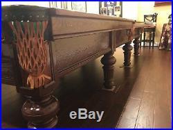 BUNDLE! Antique Burroughs & Watts Snooker Table Circa 1889 Victorian 6ft x 12ft