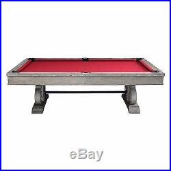 Barnstable 8' Weathered Oak Pool Table with Dining Top FREE SHIPPING