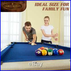 Barrington 60 Folding Pool Table with Cue Set and Accessory Kit