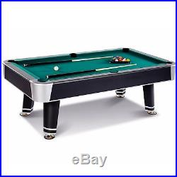 Barrington 7.5 Ft Arcade Billiard Table with Cue Set & Accessory Kit Black Green