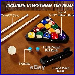 Barrington 8 Ft. Sutter Premium Billiard Table with Cue Set and Accessory Kit