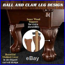 Barrington 90 Inch Ball and Claw Leg Billiard Pool Table Cue Rack Dartboard Set
