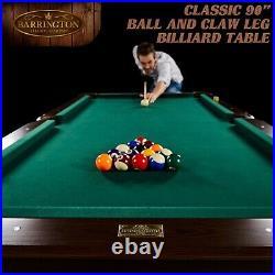 Barrington BLL090017B 90 Inch Billiard Pool Table With Bonus Cue Rack