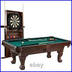 Barrington Billiard Table with Dartboard Set Combo Pool Game Cue Rack Storage 90