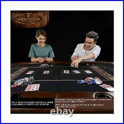 Barrington Charleston Poker Table 10 Players Faux Leather ARC084 168B Black New