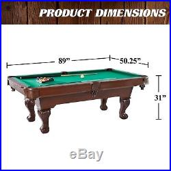 Barrington Claw Leg Billiard Pool Table