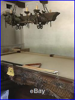 Beautiful Custom Renaissance by Charles Porter pool table. Beautiful condition