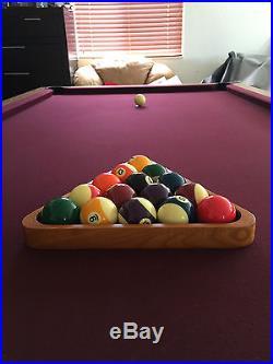 Beautiful Red Professional 4x8 Slate Olio Series Billiards Pool Table