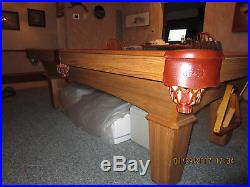 Beautiful Slate Olhausen Reno 8 FT Pool Table with custom hard cover
