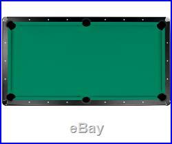 Billard Pool Table Stand Cloth Pocket Top Men Above Ground Pocket 7 Foot Green