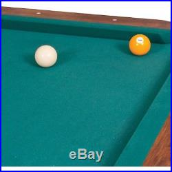 Billiard Pool Table 87 Green Wooden Stick Ball Chalk Cube Triangle Rack Set