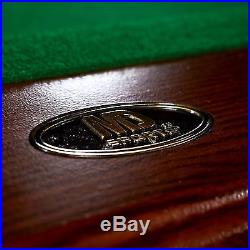 Billiard Pool Table 8 ft Crestmond w Cue Complete and Dunlop 4-piece Table Top