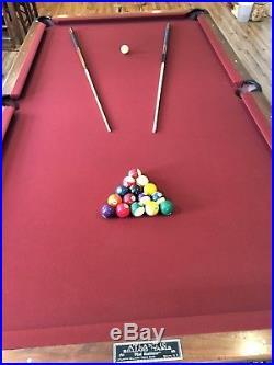 Billiard / Pool Table Antique 9 ft Atlantic Billiards circa 1920