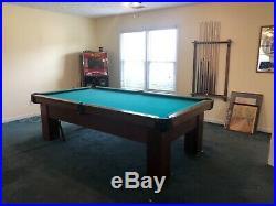Billiard / Pool Table Antique 9 ft Atlantic Billiards circa 1930 3 slate