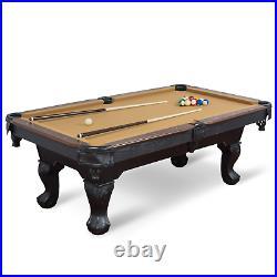Billiard Pool Table Cue Chalk Triangle Brush Set Game Room Indoor Gaming Desk