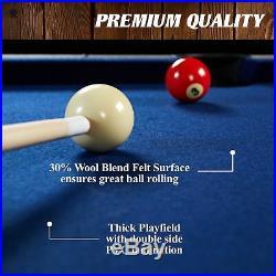 Billiard Pool Table Cue Set Accessory Kit Folding Portable Indoor Sport Play 60