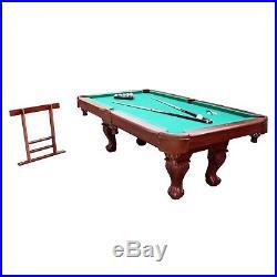 Billiard Pool Table Cue Sticks Triangle Rack Chalk Block Brush Indoor Game Room