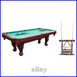 Billiard Pool Table Game Room With Cue Rack & Accessories Bundle FREE SHIPPING