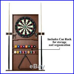 Billiard Pool Table with Cue Rack Accessories Dartboard Play Set Game Green 90