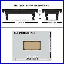 Billiard Pool Table with Felt Top 2 Cues Billiard Balls Triangle EastPoint Sport