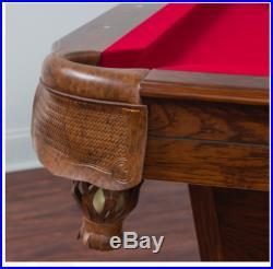 Billiard Pool table Scratch Resistant Game Room, Burgundy/ Green/ Or Tan Cloth