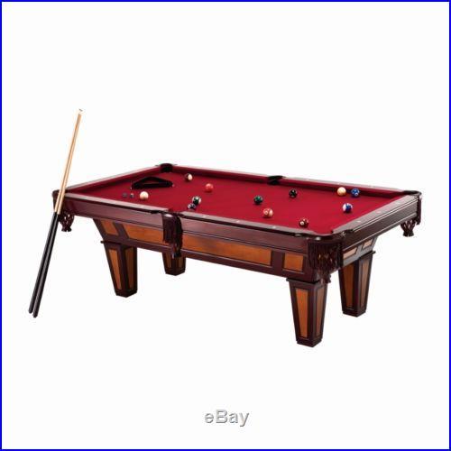 Billiard Table 7 Foot Pool Game Play Billiards Sticks Balls Chalk Triangle Bar