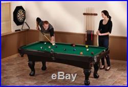 Billiards 7 Foot Pool Table Game Room Man Cave Billiard Cues Sticks Balls Chalk