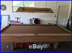 Billiards table, Gandy billiards, 9 ft pool table, pool table, regulation